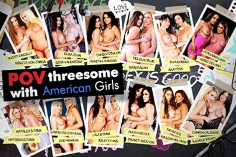 POV Threesome with American Girls