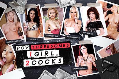 POV Threesomes - 1 Girl, 2 Cocks