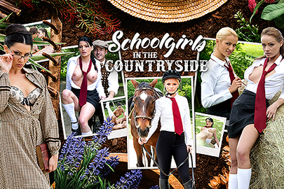 Schoolgirls in the Countryside