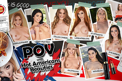 POV with Hot American Beauties