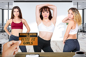Fitness Casting with Petite Fit Girls