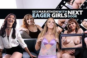 Sex Marathon with Eager Girls Next Door
