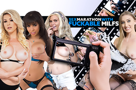 Sex Marathon with Fuckable MILFs