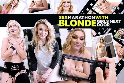 Sex Marathon with Blonde Girls Next Door