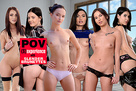 POV Sexperience with Slender Brunettes